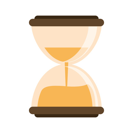 Hourglass antique time symbol vector illustration graphic design