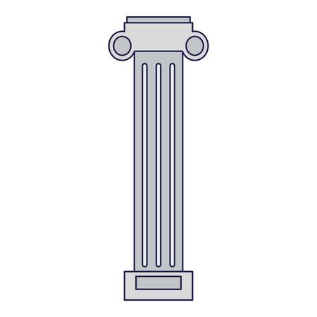 Greek column architect building vector illustration graphic design