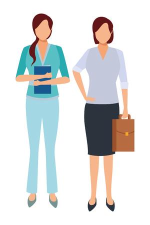 executive business women cartoon vector illustration graphic design