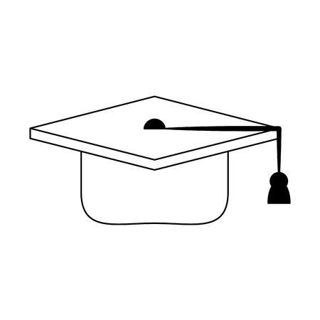 Graduation hat symbol isolated vector illustration graphic design