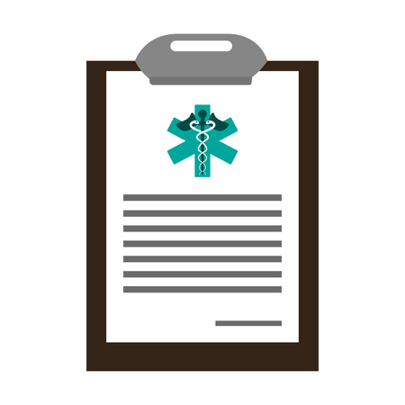 medical clipboard history symbol vector illustration graphic design