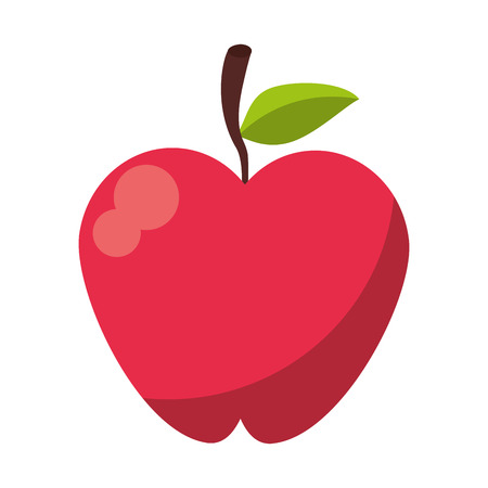 Apple fruit food symbol vector illustration graphic design