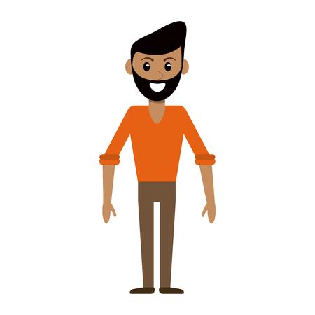 Homme avec des vêtements décontractés cartoon vector illustration graphic design