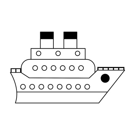 Cruise ship boat symbol vector illustration graphic design Ilustracja