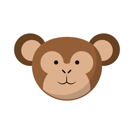 Monkey cute animal cartoon vector illustration graphic design