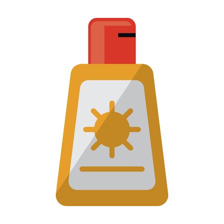 Sun bronzer bottle symbol vector illustration graphic design