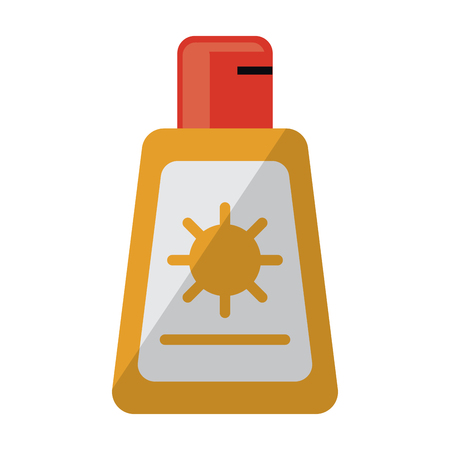 Sun bronzer bottle symbol vector illustration graphic design