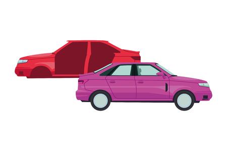 transportation concept cars cartoon vector illustration graphic design