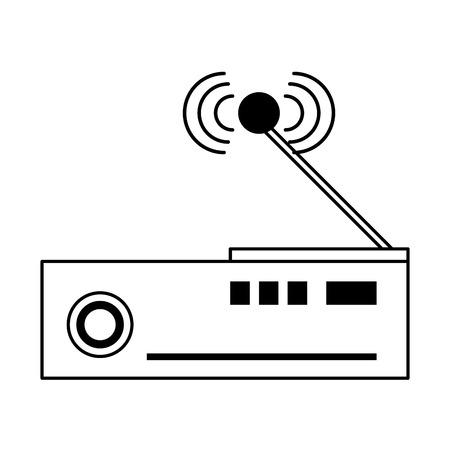 Television codifier technology device vector illustration graphic design