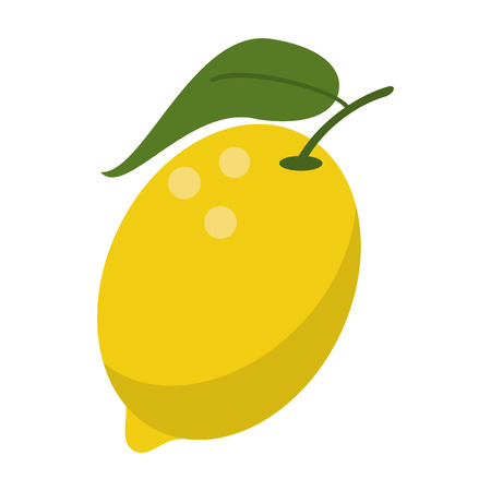 Lemon fruit fresh food isolated vector illustration graphic design Stock Illustratie
