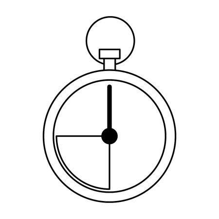 chronometer icon isolated black and white vector illustration graphic design