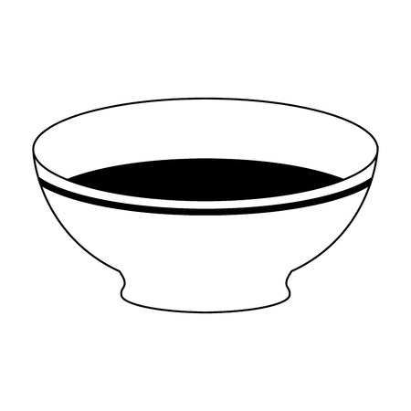 Empty dish bowl cartoon vector illustration graphic design