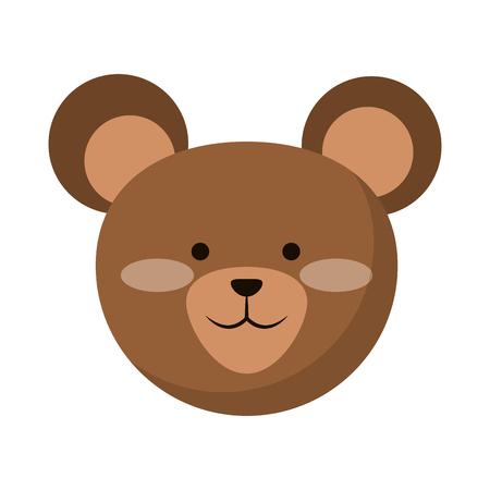 Bear cute animal cartoon vector illustration graphic design