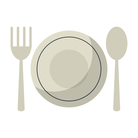 Restaurant dish and cutlery symbol vector illustration graphic design  イラスト・ベクター素材