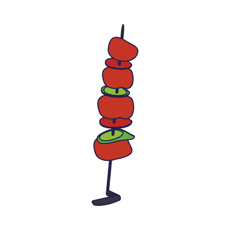 Beef meat stick food cartoon vector illustration graphic design Ilustracja