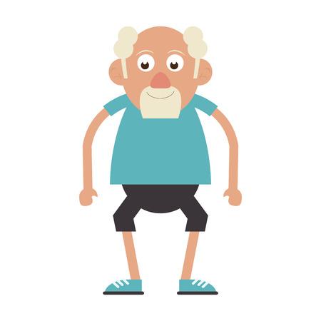Älterer Mann Großvater isoliert isoliert Vektor-Illustration-Grafik-Design