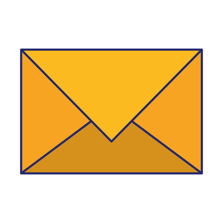 Mail envelope letter correspondence isolated vector illustration graphic design