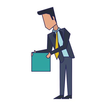 Executive businessman with cube avatar vector illustration graphic design Standard-Bild - 122614951