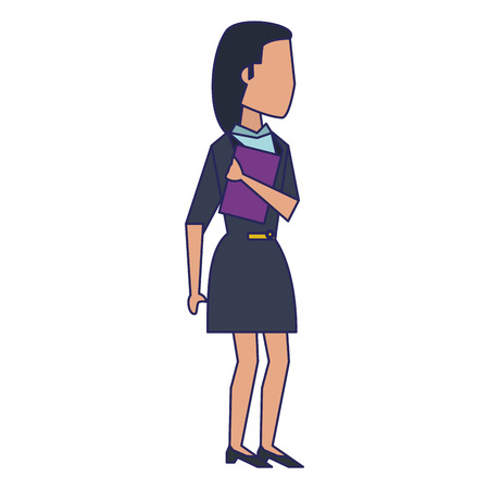 Executive businesswoman with clipboard avatar vector illustration graphic design
