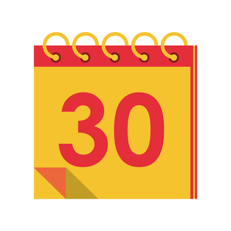 Calendar planner with thirty day vector illustration graphic design Zdjęcie Seryjne - 122614994