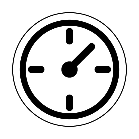 Wall clock timer symbol isolated vector illustration graphic design Stock Illustratie