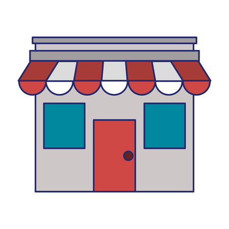 Storefront of bussiness ecommerce isolated vector illustration graphic design  イラスト・ベクター素材