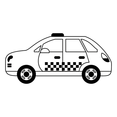 Taxi cab vehicle isolated vector illustration graphic design