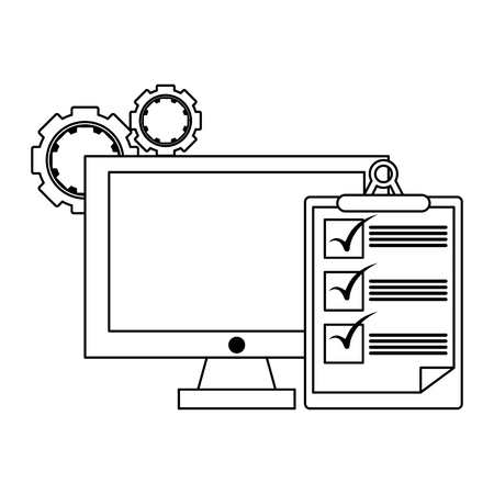 Business symbols and office elements vector illustration graphic design Banque d'images - 122615077