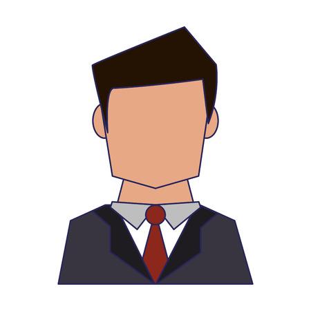 Businessman avatar faceless profile vector illustration graphic design Standard-Bild - 122615112
