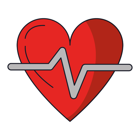 Heart Pulse Health Isolated vector illustration graphic design