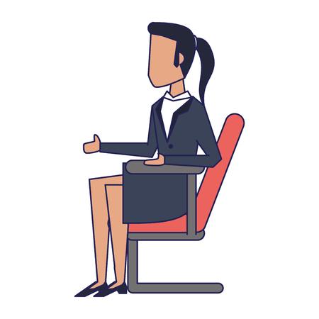 Executive businessman with clipboard avatar vector illustration graphic design Ilustrace
