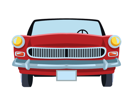 car front view icon isolated vector illustration graphic design Stock Illustratie