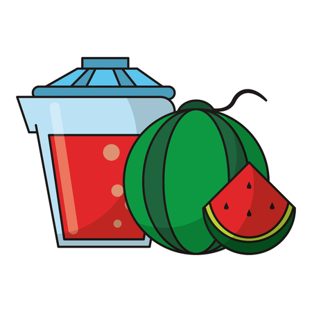 Fruit juicing healthy drinks cartoons vector illustration graphic design
