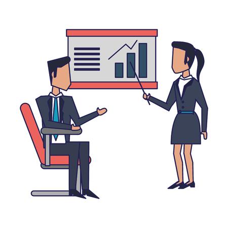 Executive businesswoman with bullhorn avatar vector illustration graphic design Standard-Bild - 122546894