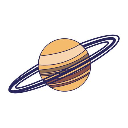 Saturn planet milky way galaxy vector illustration graphic design Ilustração