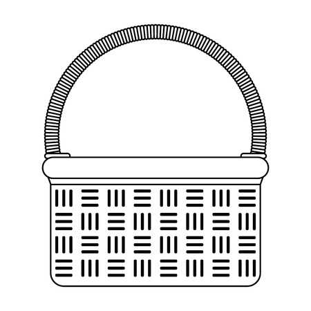 Picnic basket cartoon isolated vector illustration graphic design