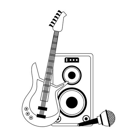 Music instrument and musical studio equipment vector illustration graphic design