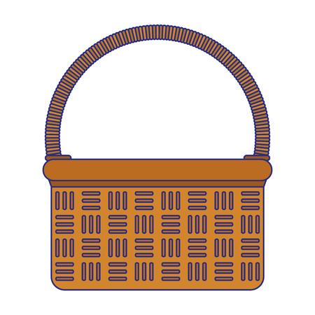 Picnic basket cartoon isolated vector illustration graphic design
