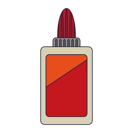 Symbol naczynia szkolnego butelka kleju Designe