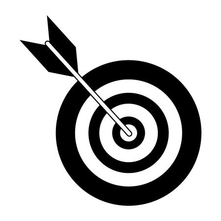 Ziel Dartscheibe Symbol isoliert Vektor-Illustration-Grafik-Design Vektorgrafik