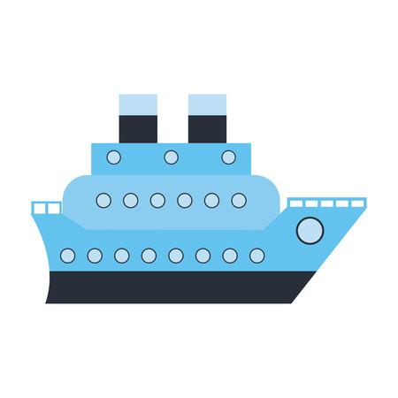Cruise ship boat symbol vector illustration graphic design Ilustrace