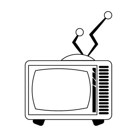 Old vintage television symbol vector illustration graphic design