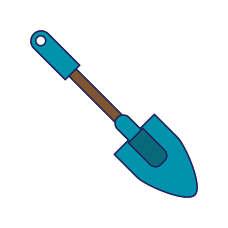 Shovel garden tool isolated icon ilustration vector
