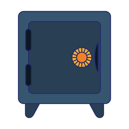 Strongbox money security symbol vector illustration graphic design