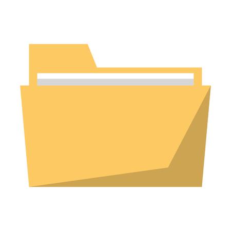 Folder document symbol cartoon vector illustration graphic design 向量圖像