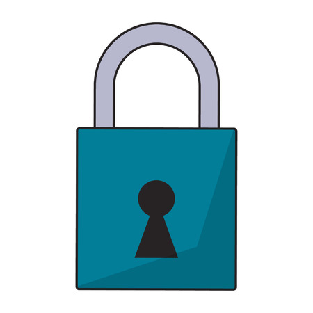 padlock icon cartoon isolated vector illustration graphic design Imagens - 122549727
