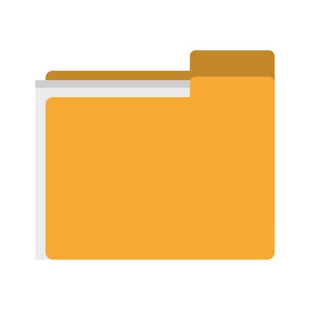 documents folder icon cartoon vector illustration graphic design