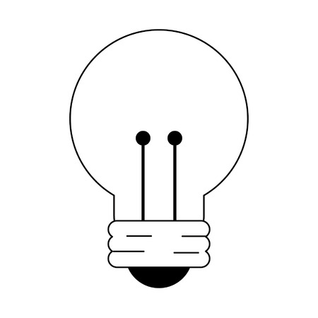 light bulb icon cartoon vector illustration graphic design