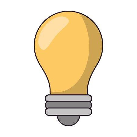 Bulb light symbol isolated vector illustration graphic design