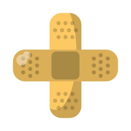 Bandage crossed medical symbol vector illustration graphic design